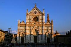 Chiesa del Santa Croce a Firenze immagini stock libere da diritti
