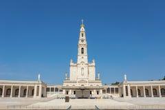 Chiesa del santuario in Fatima Portugal fotografie stock