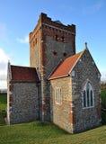 Chiesa del Saxon del castello di Dover Fotografia Stock Libera da Diritti