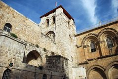 Chiesa del Sepulchre.Jerusalem santo immagini stock