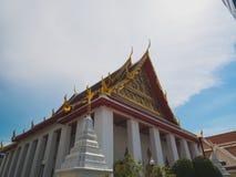 Chiesa del tempio buddista tailandese Fotografia Stock Libera da Diritti