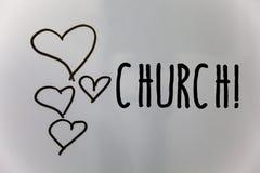 Chiesa del testo di scrittura di parola Concetto di affari per i cuori del tempio della sinagoga del santuario del santuario dell Fotografia Stock