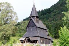 Chiesa del Vichingo della doga di Urnes Fotografia Stock Libera da Diritti