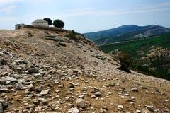 Chiesa del villaggio di Kastro, Grecia Immagini Stock Libere da Diritti