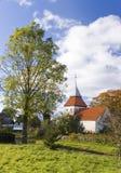 Chiesa del villaggio, Polonia. Fotografia Stock Libera da Diritti