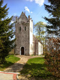 Chiesa del villaggio in Polonia fotografia stock libera da diritti