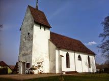 Chiesa del villaggio in Polonia fotografia stock