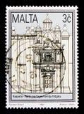 Chiesa del volo in Egitto, riabilitazione del serie storico 1992 delle costruzioni, circa 1992 Immagine Stock