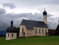 Chiesa dell'abbazia in Baviera Germania Fotografie Stock Libere da Diritti