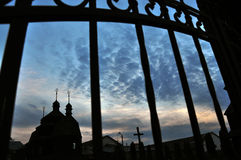 Chiesa dell'ascensione in Chortkiv fotografie stock