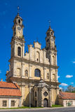 Chiesa dell'ascensione del signore, Vilnius, Lituania fotografia stock