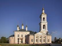 Chiesa dell'ascensione in Kimry Tver'Oblast Russia immagini stock