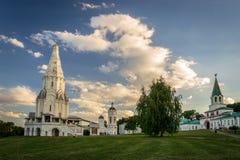 Chiesa dell'ascensione in Kolomenskoye, Mosca immagini stock libere da diritti