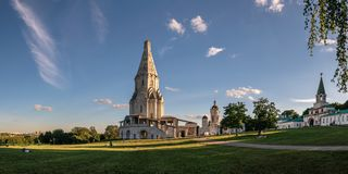 Chiesa dell'ascensione in Kolomenskoye, Mosca fotografia stock libera da diritti