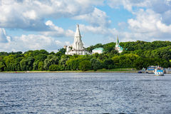 Chiesa dell'ascensione in Kolomenskoye, Mosca, Russia immagini stock libere da diritti