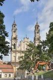 Chiesa dell'ascensione, Roman Catholic Church a Vilnius, Lituania fotografia stock libera da diritti