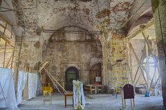 Chiesa dell'entrata del signore in Gerusalemme fotografie stock