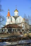 Chiesa dell'icona di Kazan della madre del dio Reutov, regione di Mosca Fotografia Stock Libera da Diritti