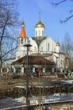 Chiesa dell'icona di Kazan della madre del dio Reutov, regione di Mosca Fotografie Stock Libere da Diritti
