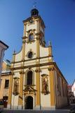 Chiesa dell'incrocio santo in Cieszyn Polonia, Slesia Fotografia Stock Libera da Diritti