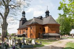 Chiesa dell'indulgenza dedicata alla trinità santa in KoszÄ™cin Fotografie Stock
