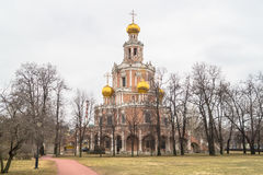 Chiesa dell'intercessione a Fili, Mosca Fotografie Stock Libere da Diritti