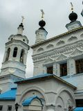 Chiesa dell'intercessione sul fossato (St John il guerriero) nella città di Kaluga in Russia Fotografie Stock