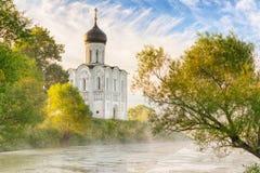 Chiesa dell'intercessione sul Nerl in Bogolubovo Immagini Stock