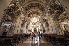 Chiesa dell'università a Salisburgo, Austria Fotografia Stock