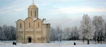 Chiesa della cattedrale di Dmitrovskiy Immagine Stock