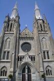 Chiesa della cattedrale di Jakarta Fotografia Stock Libera da Diritti
