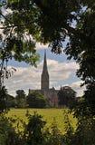 Chiesa della cattedrale di Salisbury di vergine Maria benedetto fotografie stock