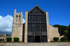 Chiesa della cattedrale di St Andrew, Honolulu Immagini Stock