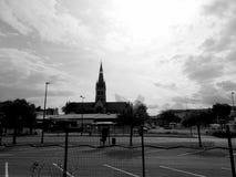 Chiesa della città di Epernay in Francia fotografie stock