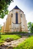 Chiesa della collina dalla città medievale di Sighisoara Immagine Stock Libera da Diritti