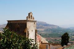 Chiesa della collina della torre, Alora Immagine Stock