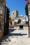 Chiesa della collina della torre, Alora Fotografia Stock