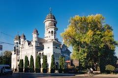 Chiesa della discesa dello Spirito Santo, Radauti, Romania Fotografia Stock Libera da Diritti