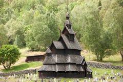 Chiesa della doga di Borgund Fotografia Stock Libera da Diritti