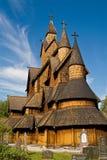 Chiesa della doga di Heddal Fotografia Stock Libera da Diritti