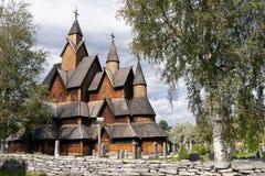 Chiesa della doga di Heddal in Norvegia fotografie stock