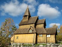 Chiesa della doga di Urnes Immagine Stock