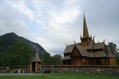 Chiesa della doga in Norvegia Fotografia Stock Libera da Diritti