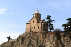 Chiesa della Mary di Virgin Metekhi Immagini Stock