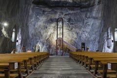Chiesa della miniera di sale Fotografie Stock