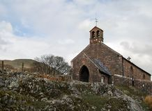 Chiesa della montagna Immagine Stock