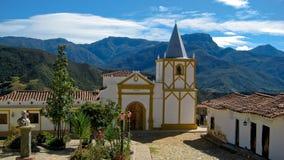 Chiesa della montagna nelle Ande Fotografia Stock Libera da Diritti