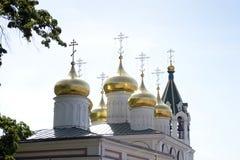 Chiesa della natività Nizhny Novgorod, Russia Maggio 2014 Fotografia Stock