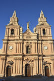 Chiesa della nostra signora della vittoria in Mellieha Fotografie Stock