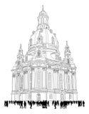 Chiesa della nostra signora - Dresda Germania Fotografie Stock Libere da Diritti